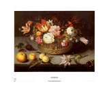 Corbeille de Fleurs Prints by Johannes Bosschaert