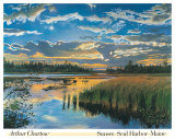 Sunset, Seal Harbor, Maine Posters by Arthur Chartow