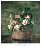 Camellias and Roses in Japanese Vase Kunstdrucke von John Lafarge