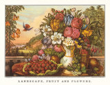 Landscape, Fruit and Flowers Prints by  Currier & Ives