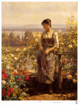 Ray of Sunshine Print by Daniel Ridgway Knight