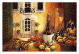 Kitchen in Tuscany Prints by Karel Burrows