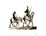 Don Quichotte Affiche par Honore Daumier