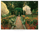Jardin de Aranjuez Posters af Santiago Rusinol