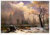 Yosemite Winter Scene Print by Albert Bierstadt