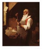 El taller de Papá Noel Póster por Norman Rockwell