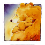 Mother Bear&#39;s Love I Prints by Makiko 