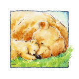 Mother Bear's Love II Print by  Makiko