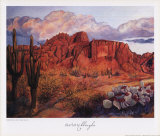 Golden Hour of the Superstitions Art by Charlotte Klingler