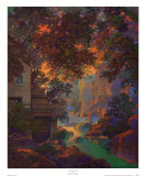 Old Oak Glen Art by Maxfield Parrish
