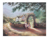 The Rose Arbor Print by Eleanor Polen