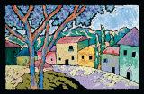Dorfmorgen Kunstdrucke von Brett Varney