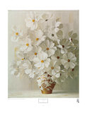 White Bouquet Prints by Rouviere 