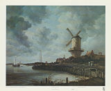 Windmill Near Wijk Prints by Jacob Van Ruysdael