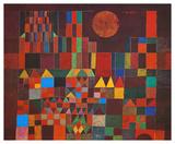 Kasteel en Zon Poster van Paul Klee
