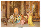 The Chess Game Print by F. Beda