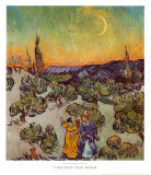 The Promenade, Evening Prints by Vincent van Gogh