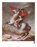 Napoleon on Horseback at the St. Bernard Pass Affiches par Jacques-Louis David