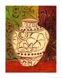 Pot au motif de lotusI Affiche par Joyce Lieberman