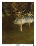 Dos bailarinas Láminas por Edgar Degas
