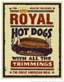 Royal Hot Dogs Plakater af Joe Giannakopoulos