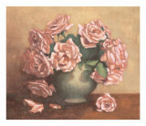 French Cottage Roses II Art by Linda Hanly