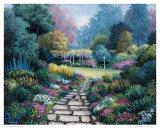 Garden Pathway Print by Barbara R. Felisky