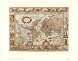 Map of the World Print by Joan Blaeu