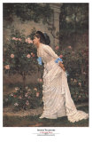 Girl and Roses Prints by Auguste Toulmouche