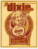 Dixie Piggie Drive-In Posters af Joe Giannakopoulos
