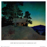 Dusk Print by Maxfield Parrish