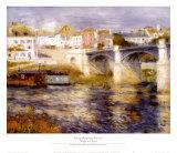 Bridge at Chatou Prints by Pierre-Auguste Renoir