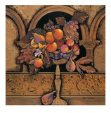 Memories of Provence, Grapes and Persimmons Prints by Karel Burrows