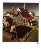 Spring in Town, Grant Wood, Art Print