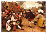 Danza campesina Pster por Pieter Bruegel the Elder