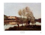 Ville Davray Poster von Jean-Baptiste-Camille Corot