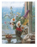 Still Life with Flowers and Chestnuts Poster von Malcolm Milne