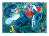 Le paradis Affiches par Marc Chagall
