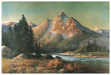 Evening in the Tetons Posters by Robert Wood