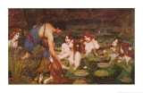 Hylas et les nymphes Posters par John William Waterhouse