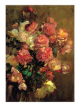 Roses Prints by Franz Arthur Bischoff