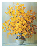Yellow Bouquet Prints by Rouviere