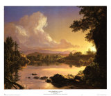 Scene on Catskill Creek Posters by Frederic Edwin Church
