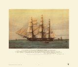 Fragata Constitución. EE.UU. 44 cañones Lámina por Harold Wyllie