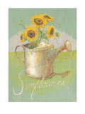 Watering Can with Sunflowers Prints by Thomas LaDuke