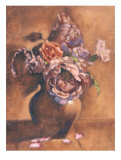 Vintage Chic Roses I Prints by Linda Hanly