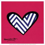 Amour en zigzag Affiche par Romero Britto
