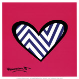 Zig Zag Love Prints by Romero Britto