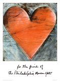The Philadelphia Heart Poster par Jim Dine