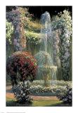 Jardin Fleuri au Jet d'Eau Art by Emile Quentin-Brin